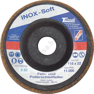 Nemesacél csiszolókorong - szuper finom, INOX-Soft