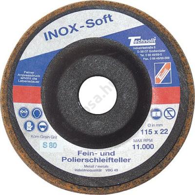 Nemesacél csiszolókorong - finom, INOX-Soft